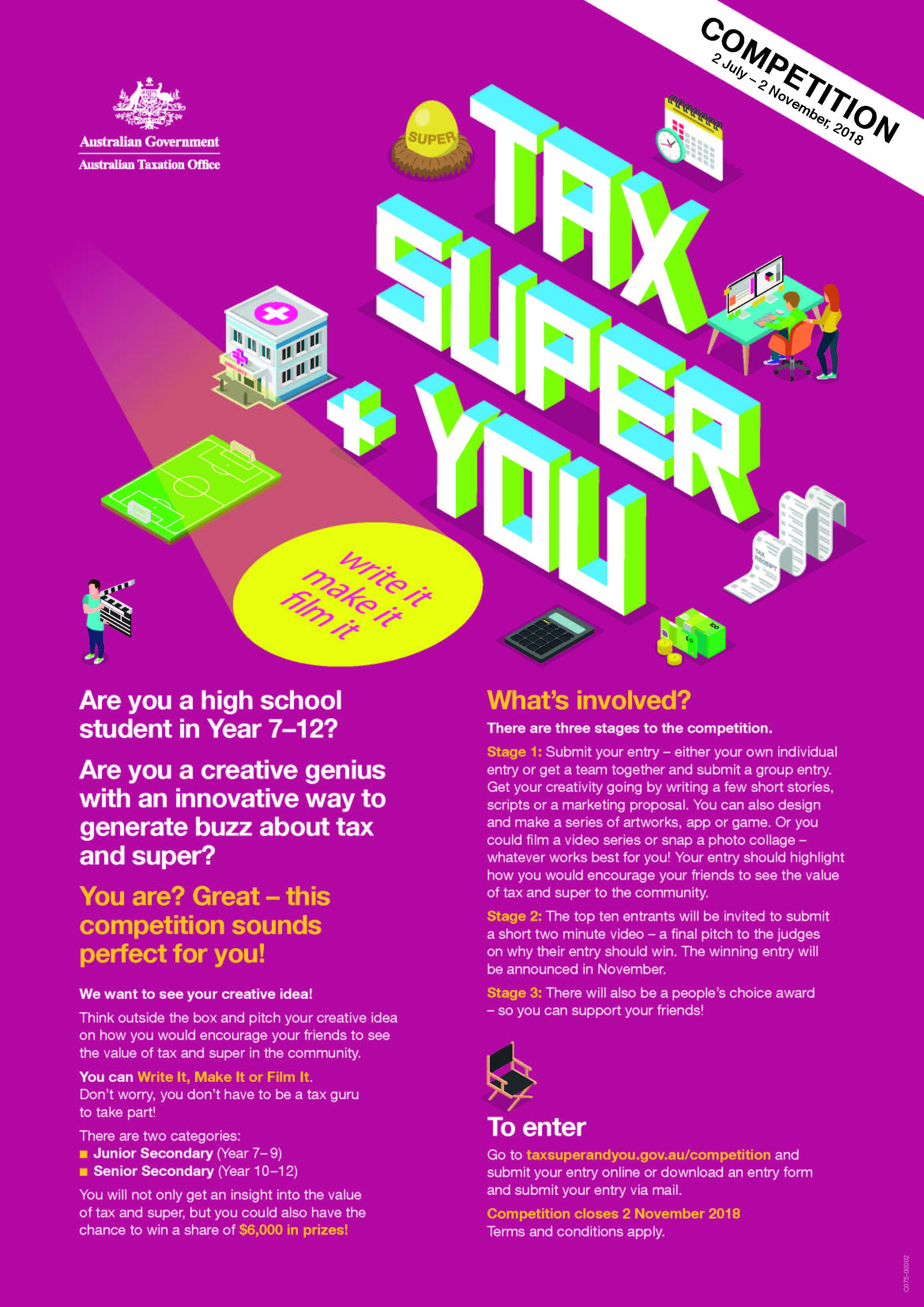 Tax Super and You Competition Poster (002)